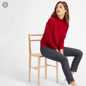 Everlane cashmere mockneck cropped sweater